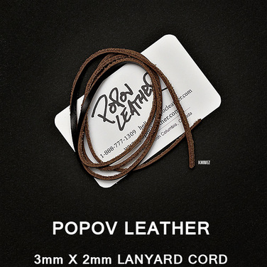 [Popov Leather] Lanyard 가죽끈 / 블랙