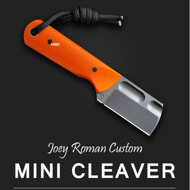 [Joey Roman Custom] Mini Cleaver / Orange G10