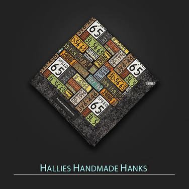 [Hallies Handmade Hanks]  License plate