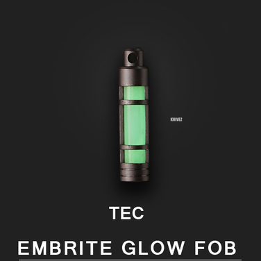 [Tec Accessories] TEC-S3 Stainless Steel Embrite™ Glow Fob