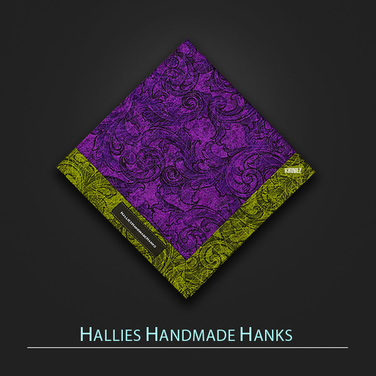 [Hallies Handmade Hanks]  Green & Purple