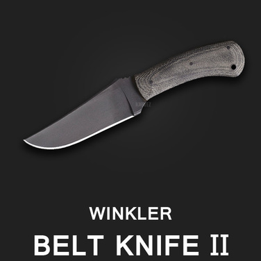 입고문의주세요 [Winkler] Belt Knife II Black Micarta