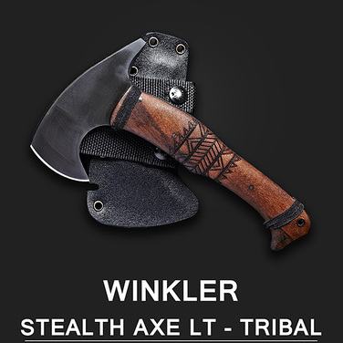 (품절) [Winkler Knives] Stealth AXE lt - Walnut Tribal 월넛