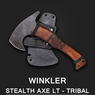 (품절) [Winkler Knives] Stealth AXE lt - Maple Tribal 메이플