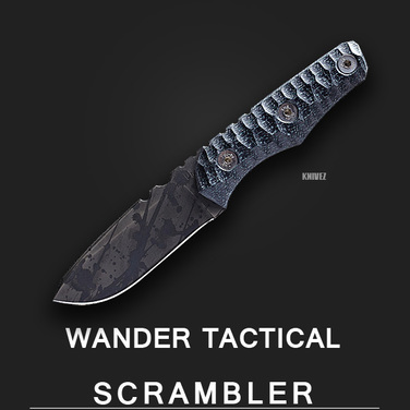 [WanderTactical] Scrambler / Black Blood Finish