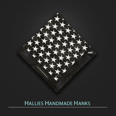 [Hallies Handmade Hanks]  Thin Blue Line Stars Police Officer