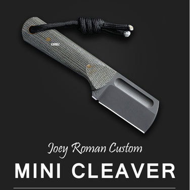 [Joey Roman Custom] Mini Cleaver / Green Micarta