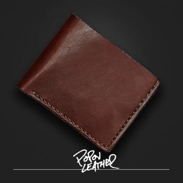 [Popov Leather] 6Card Leather Traditional wallet - 쵸코렛