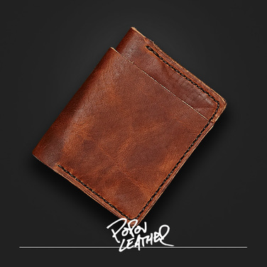 [Popov Leather] 4Card Leather Billfold wallet - 잉글리쉬탄